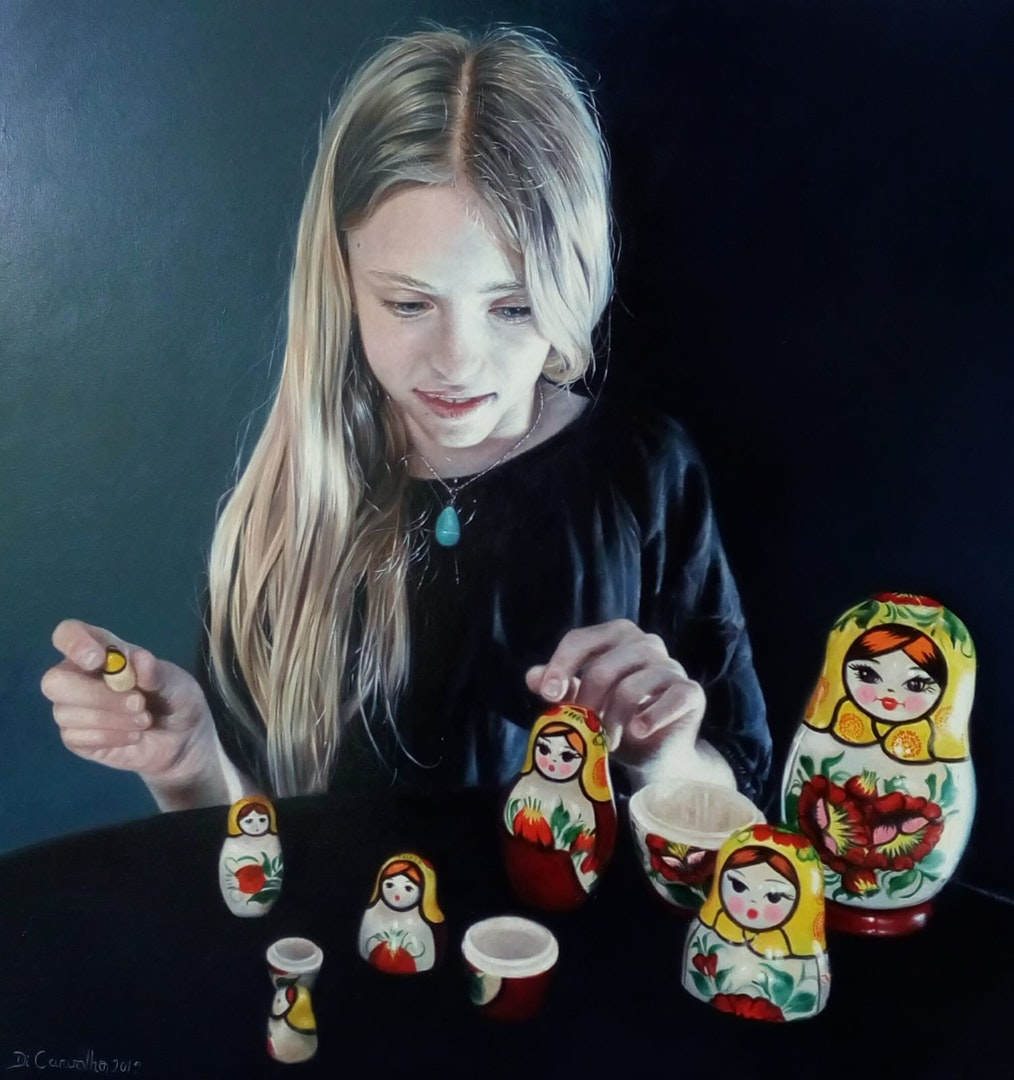 'Matrioskas', Raquel di Carvalho, Oil on canvas, 60 x 60 cm