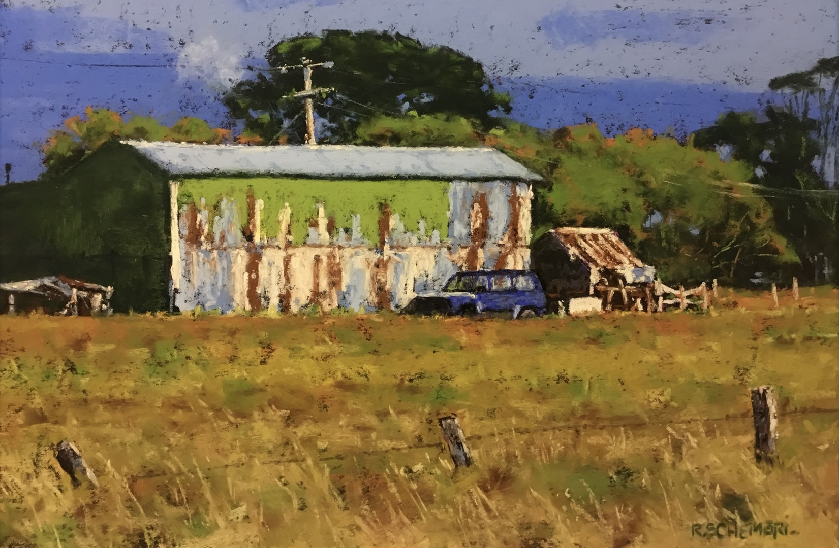 'Daniel's Yard', Ricky Schembri, Pastel on Mi Teintes paper, 50 x 60 cm