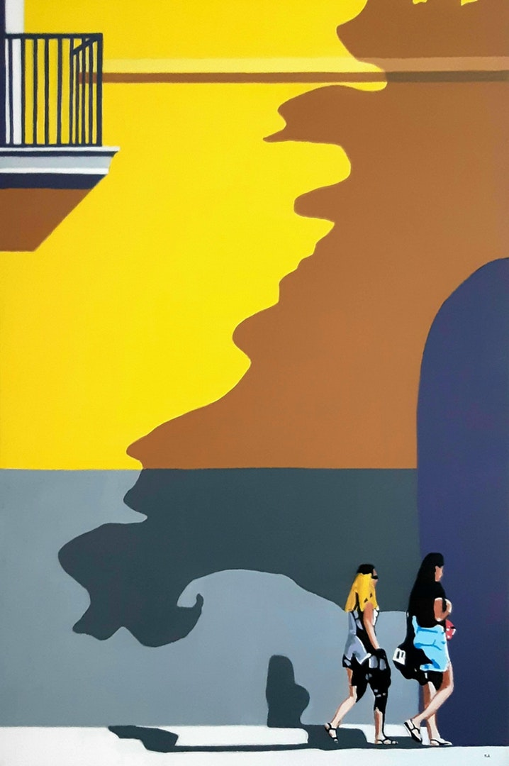 'Sorrento Walk 2', Roger Aslin, Acrylic on canvas, 76 x 50 cm