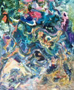'October Oakwood', Roland George, Oil on linen, 76 x 91.5 cm