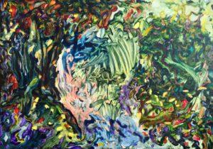 'September bathers', Roland George, Oil on linen, 65 x 92 cm