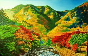 'Autumn in korea', Seung Jin Kim, Oil on linen, 100 x 65 cm