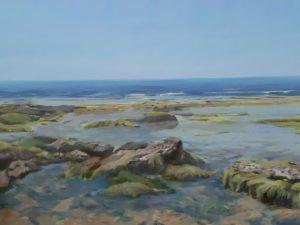 'Poleg Beach', Shay Avivi, Oil on canvas, 60 x 80 cm