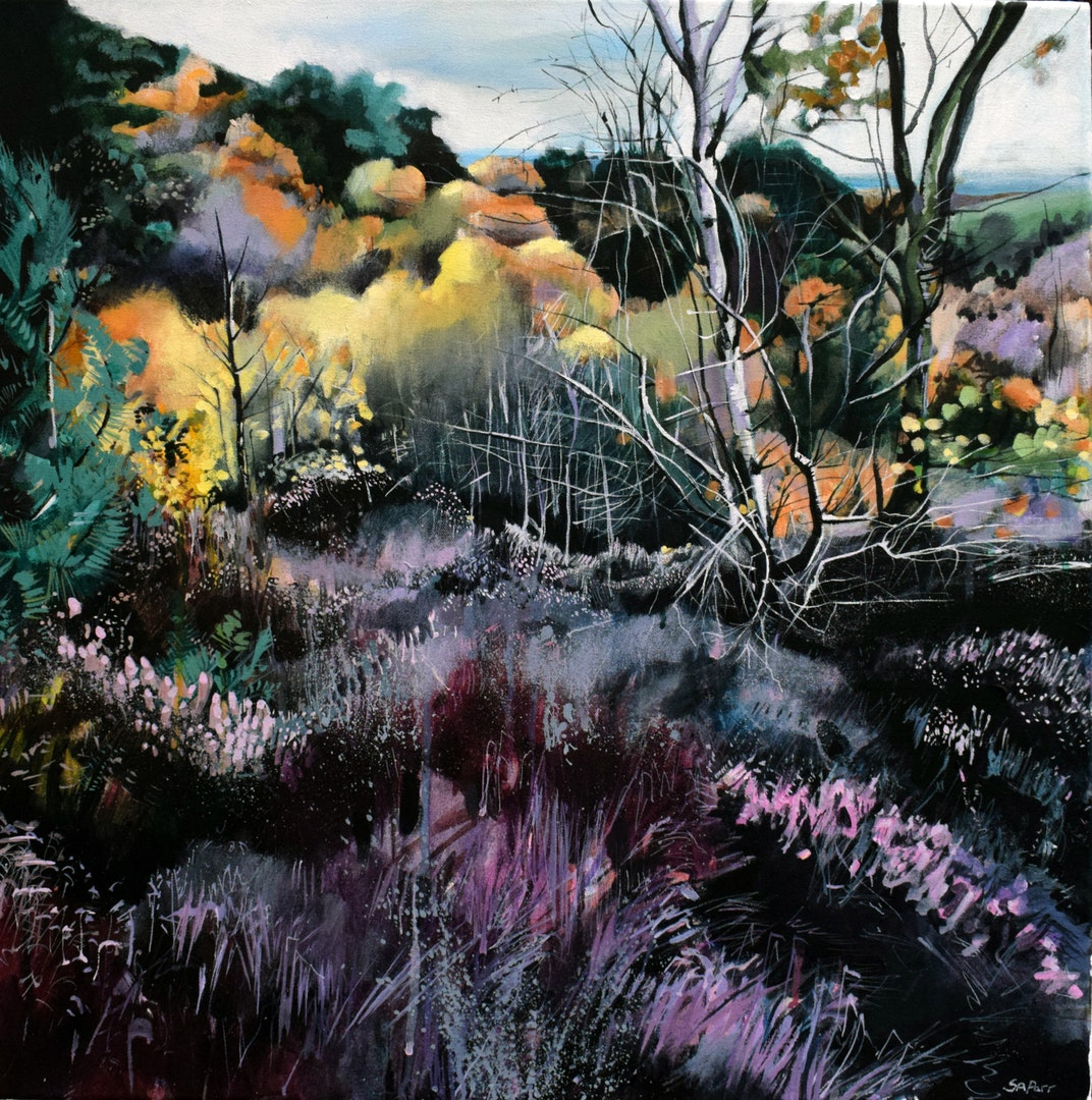 'Top of Musket's Hole, Autumn', Sophie Parr, Acrylic on canvas, 60 x 60 cm
