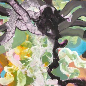 'Cowbar Seakale', Stef Mitchell, Acrylic on canvas, 40 x 40 cm