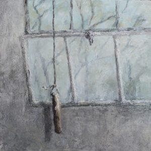 'Through Times Eye', Susan Erskine-Jones, Oil on wooden panel, 30 x 30 cm