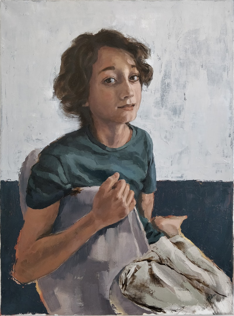 'Barthelemy', Tania Hillion, Oil on canvas, 46 x 61 cm