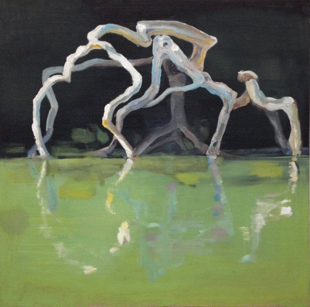 'Spider Tree', Tania Skeaping, Oil on linen, 50 x 50 cm