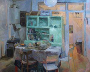 'Hackney Interior E9', Tim Patrick, Oil on linen, 160 x 200 cm