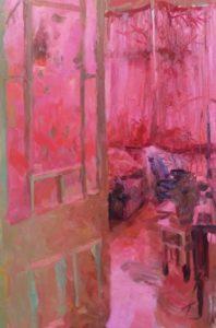 'Quinacrodone Room', Tim Patrick, Oil on board, 60 x 90 cm
