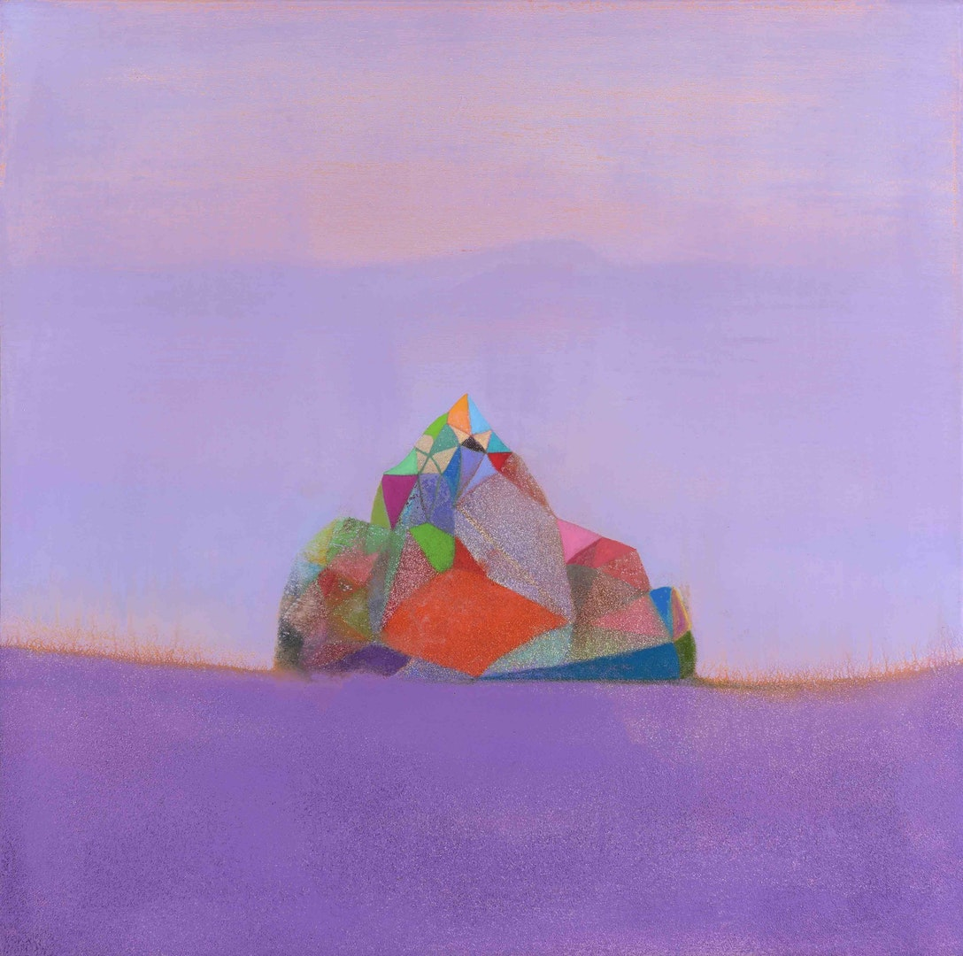 'Light Ship', Tom Climent, Oil, plaster and sand on canvas, 60 x 60 cm