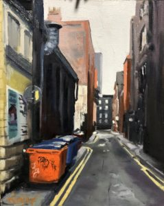 'Back Piccadilly', Tom Quigley, Oil on board, 30 x 24 cm