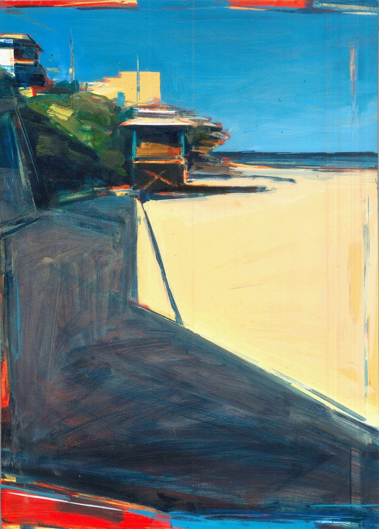 'Bronte Beach- Sydney', Tom Voyce, Oil on board, 40 x 29 cm