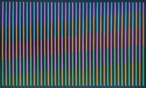 'Forty one (Black)', Victoria Mardon, Acrylic on canvas, 60 x 100 cm