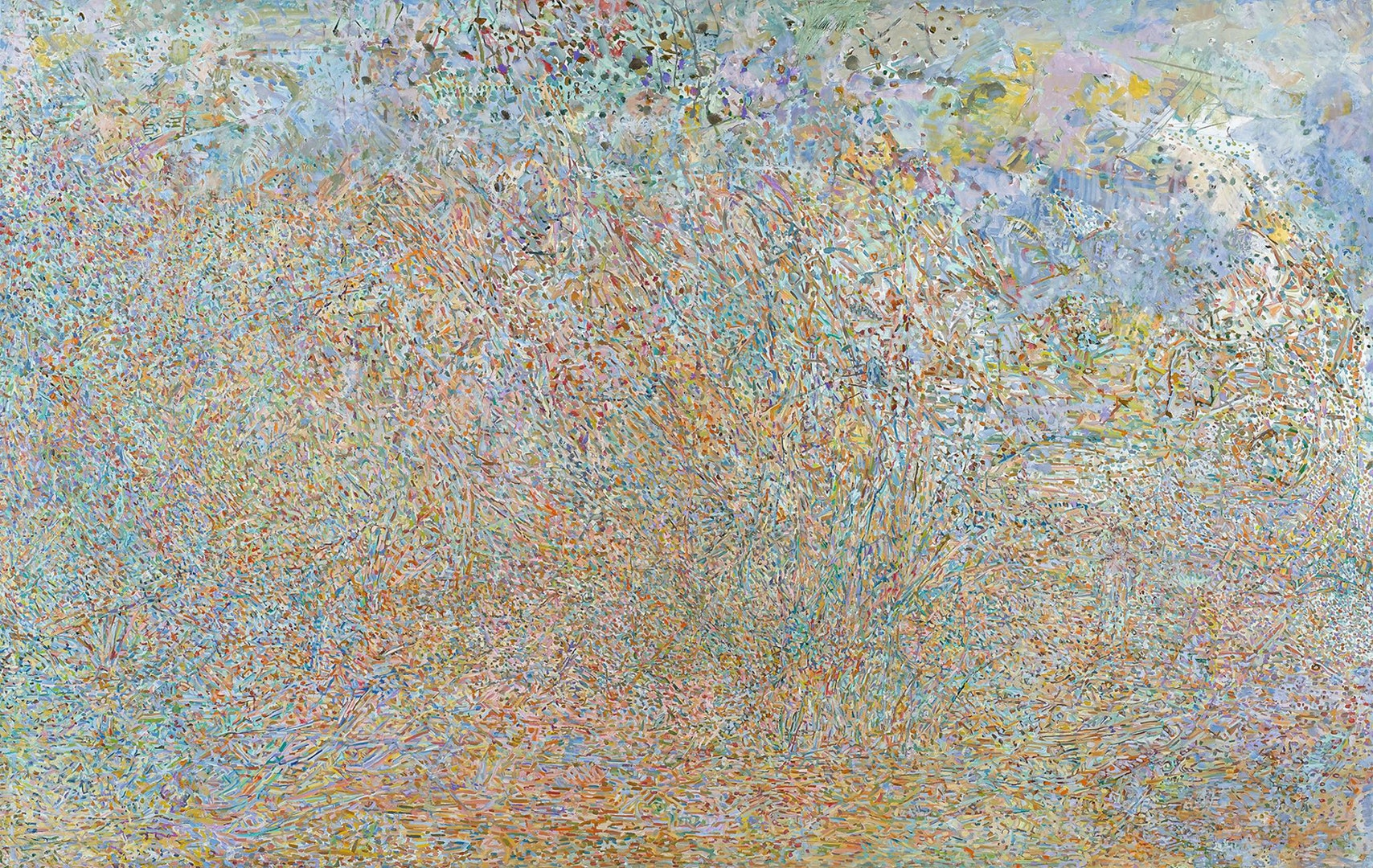 'Odem forest 2017', Zohar Cohen, Oil on linen, 124 x 197 cm