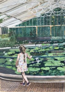 'Waterlily house, Kew Gardens', Zohar Flax, Oil on canvas, 100 x 70 cm