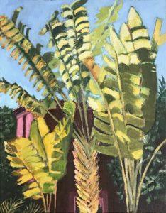 'Lush vegetation', Anne-Marie McGowan, Acrylic on paper, 36 x 28 cm