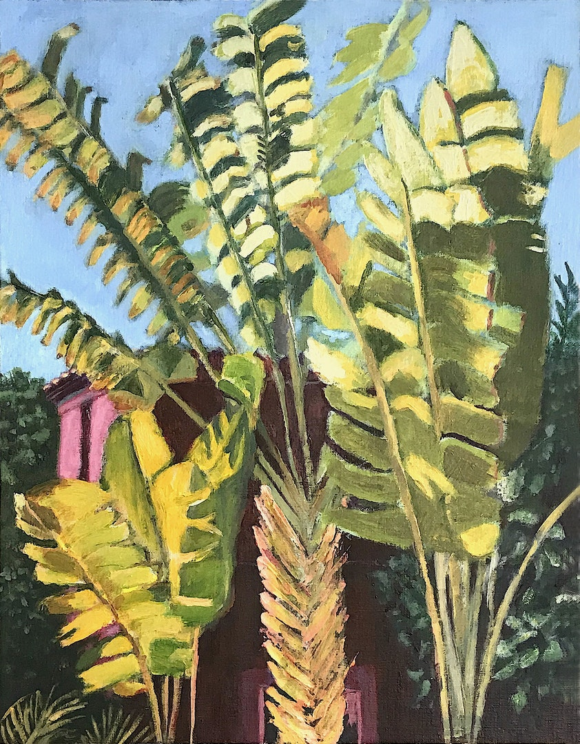 'Lush vegetation', Anne-Marie McGowan, Acrylic on paper, 36 x 28 cm