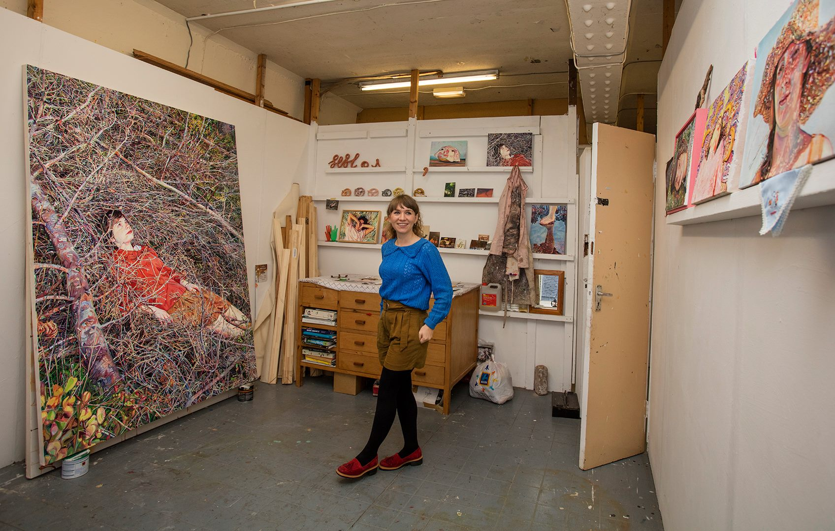 Ruth Murray in her Manchester studio. Photo credit: Lāsma Poiša
