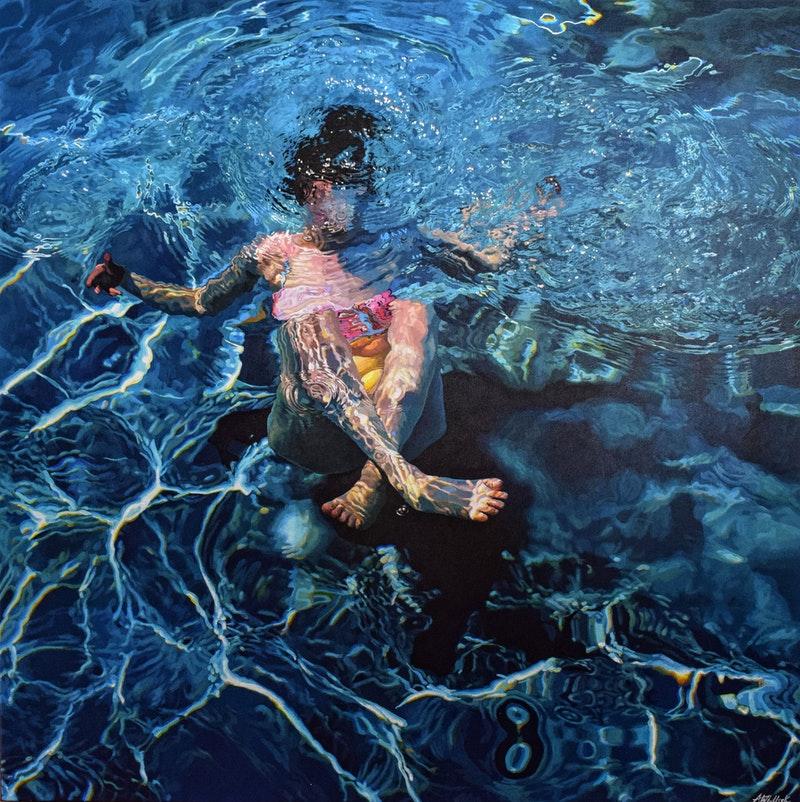 'Solace VI', Abi Whitlock, Acrylic on canvas, 80 x 80 cm