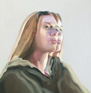 'Diplopia', Ada Densham bond, Oil on board, 26 x 25 cm
