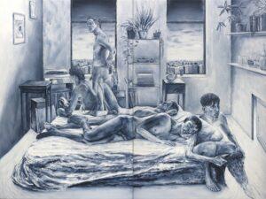 'I Me Mine', Adam Lupton, Oil on canvas, 152 x 203 cm