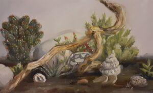 'Little life', Aggie Matyjaszek, Oil on paper, 35 x 23 cm