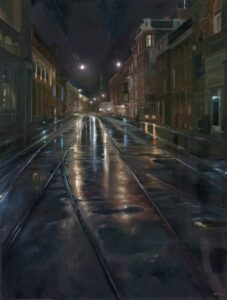 'Marnixstraat (An Unexpected Gift)', Amelia Schutter, Oil on canvas, 60 x 80 cm