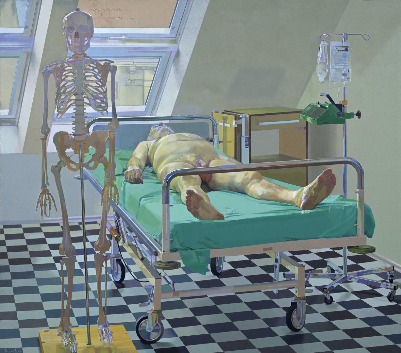 'Death', Amnon David Ar, Oil on canvas, 205 x 180 cm
