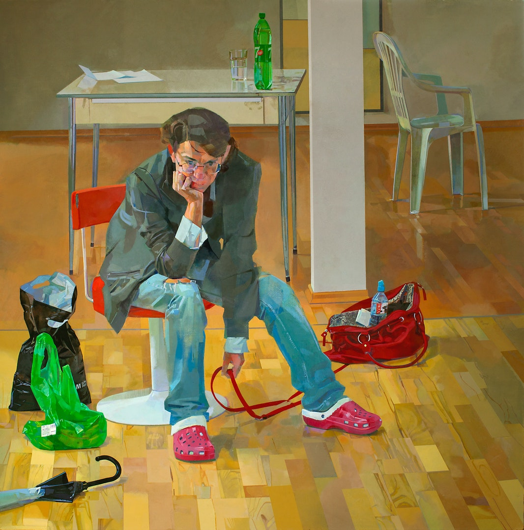 'Life Itself', Amnon David Ar, Oil on canvas, 180 x 180 cm