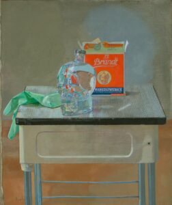 'Memento Mori', Amnon David Ar, Oil on canvas, 60.5 x 53 cm
