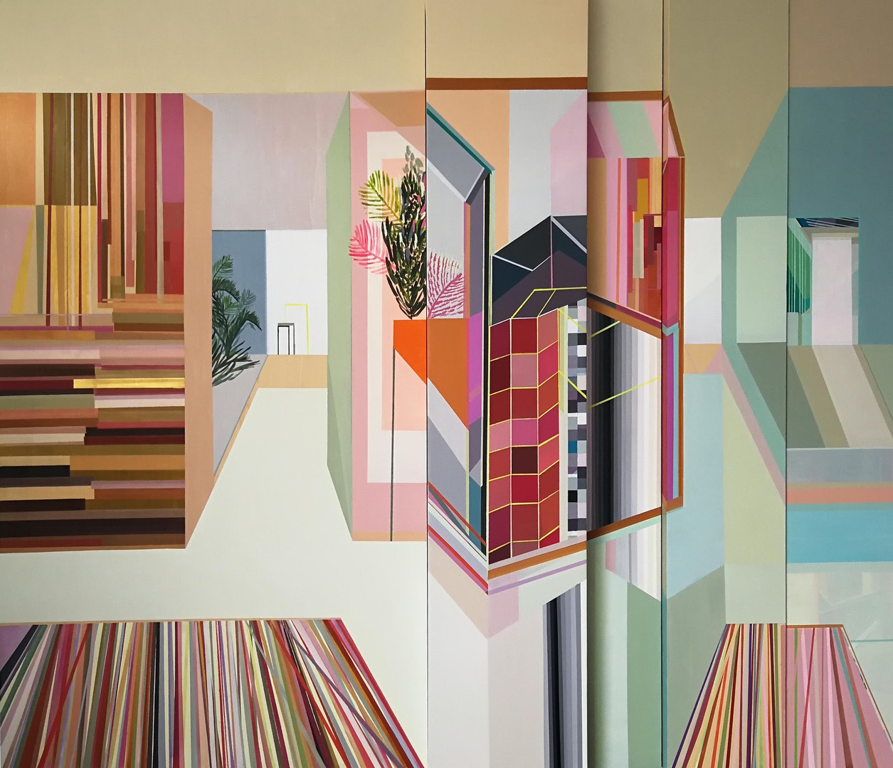 'Stay inside', Ana Pais Oliveira, Acrylic on canvas and maritime plywood, 200 x 230 x 12 cm