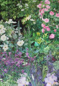 'Summer Roses', Angelika Lialios, Acrylic on canvas, 70 x 100 cm
