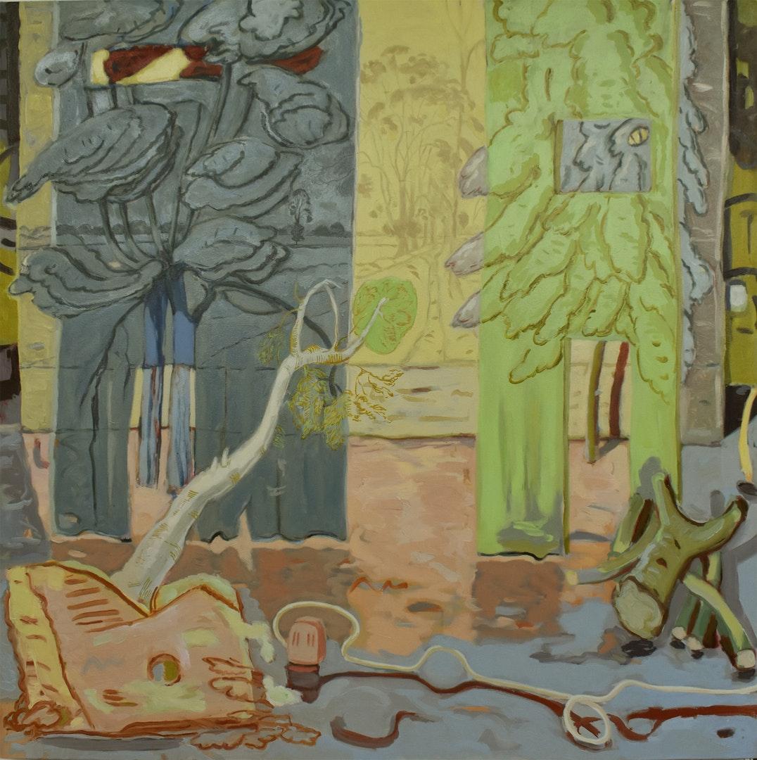 Shrouded Trees', Angelina Davis, Oil on canvas, 160 x 160 cm