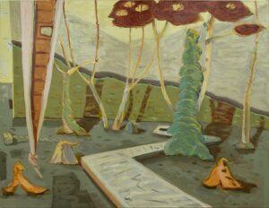 The Board Walk', Angelina Davis, Oil on canvas, 120 x 154 cm