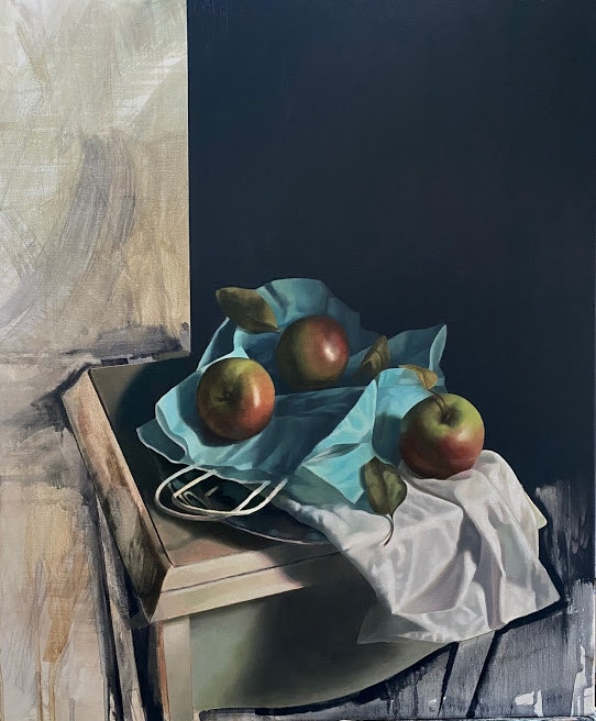 'Three Apples', Angelo Murphy, Oil on canvas, 60 x 50 cm