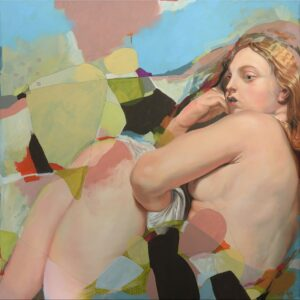 'The freezing Venus, after Rubens', Anja Wülfing, Oil, acrylic and pencil on canvas, 100 x 100 cm