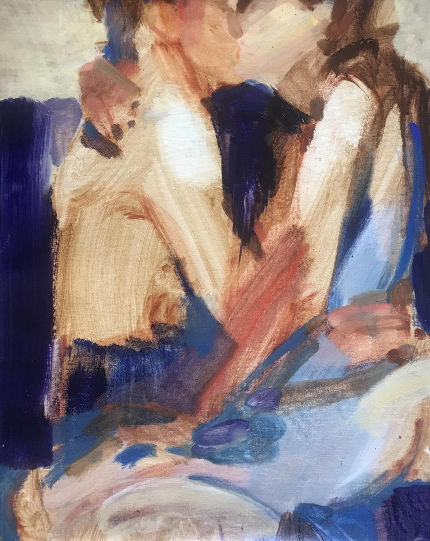 'Les amoureux', Anna McNeil, Oil on linen, 81 x 65 cm