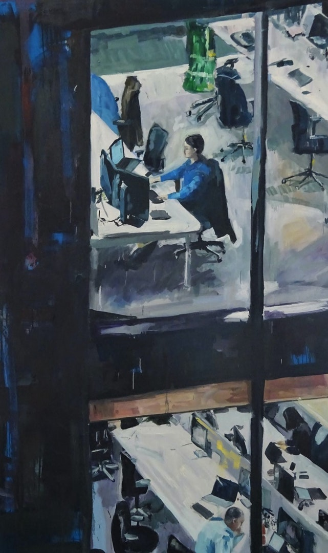 'Night Shift', Anna Porter, Oil on canvas, 200 x 120 cm