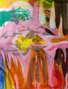 'Yellow Core', Anna Tveritinova, Acrylic on canvas, 100 x 80 cm