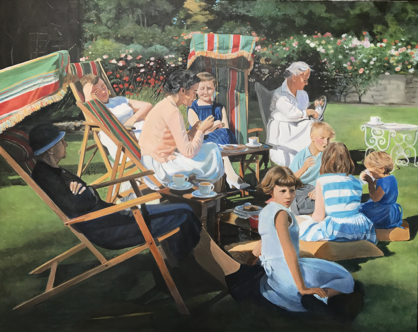 'Sunday afternoon', Annette Tranter, Acrylic on canvas, 61 x 76