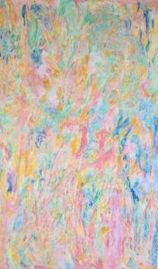 'Spring', Antoinette Favre Bonvin, Oil pastel and aquarelle pigment, 106.5 cm x 67 cm