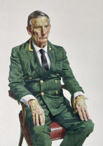 'Richard Parkes', Benjamin Sullivan, Watercolour on paper, 60 x 43 cm