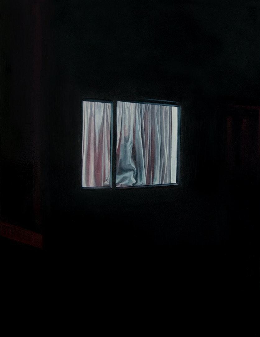 'Neighbourhood Watch', Bianca MacCall, Oil on board, 46 x 35 cm