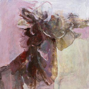 Flowers in the Dirt I', Caroline Ann Mordue, Acrylic on wood panel, 25 x 25 cm