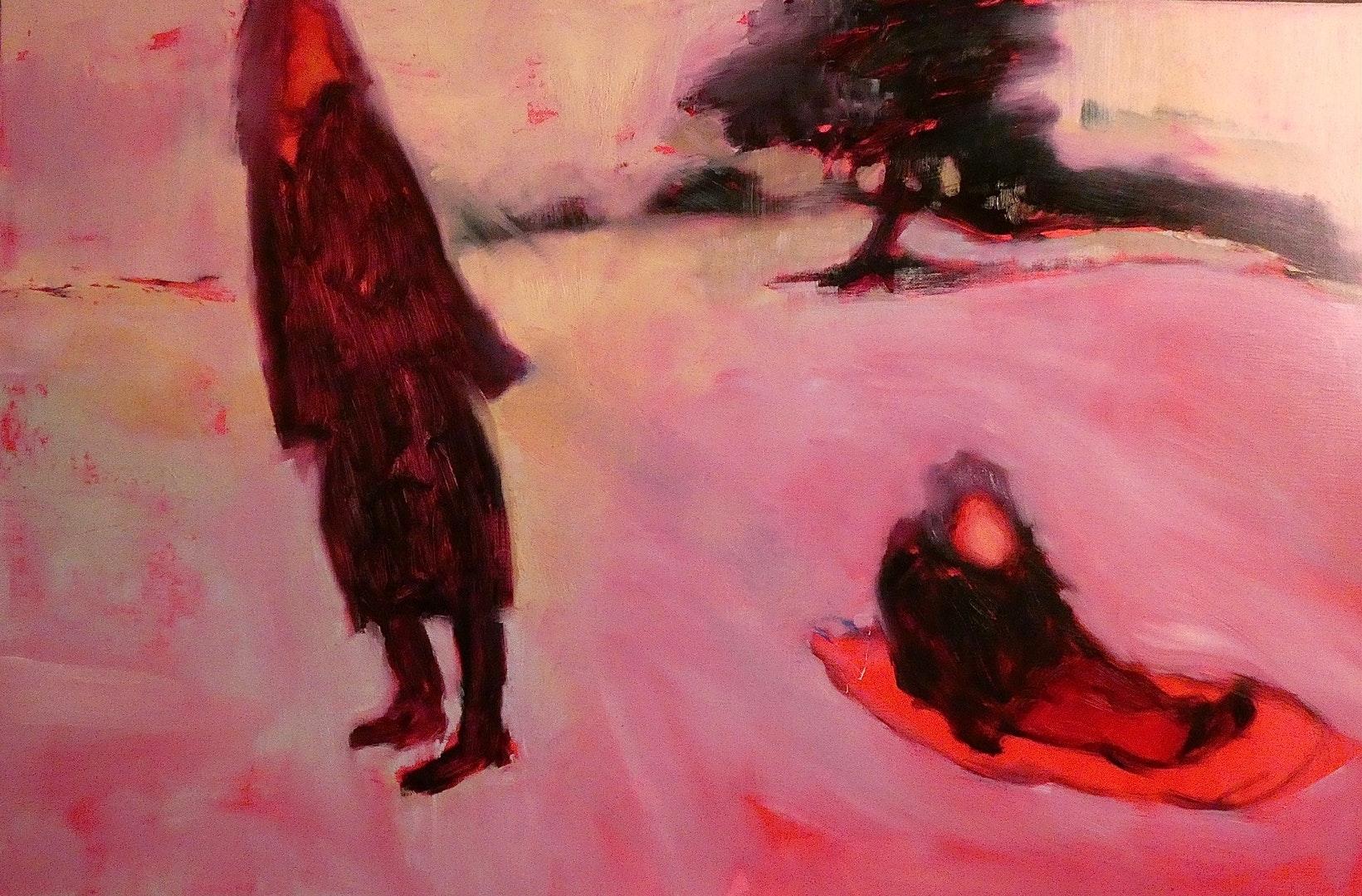 'Muruaneq', Carrie Stanley, Oil on canvas, 40 x 60 cm