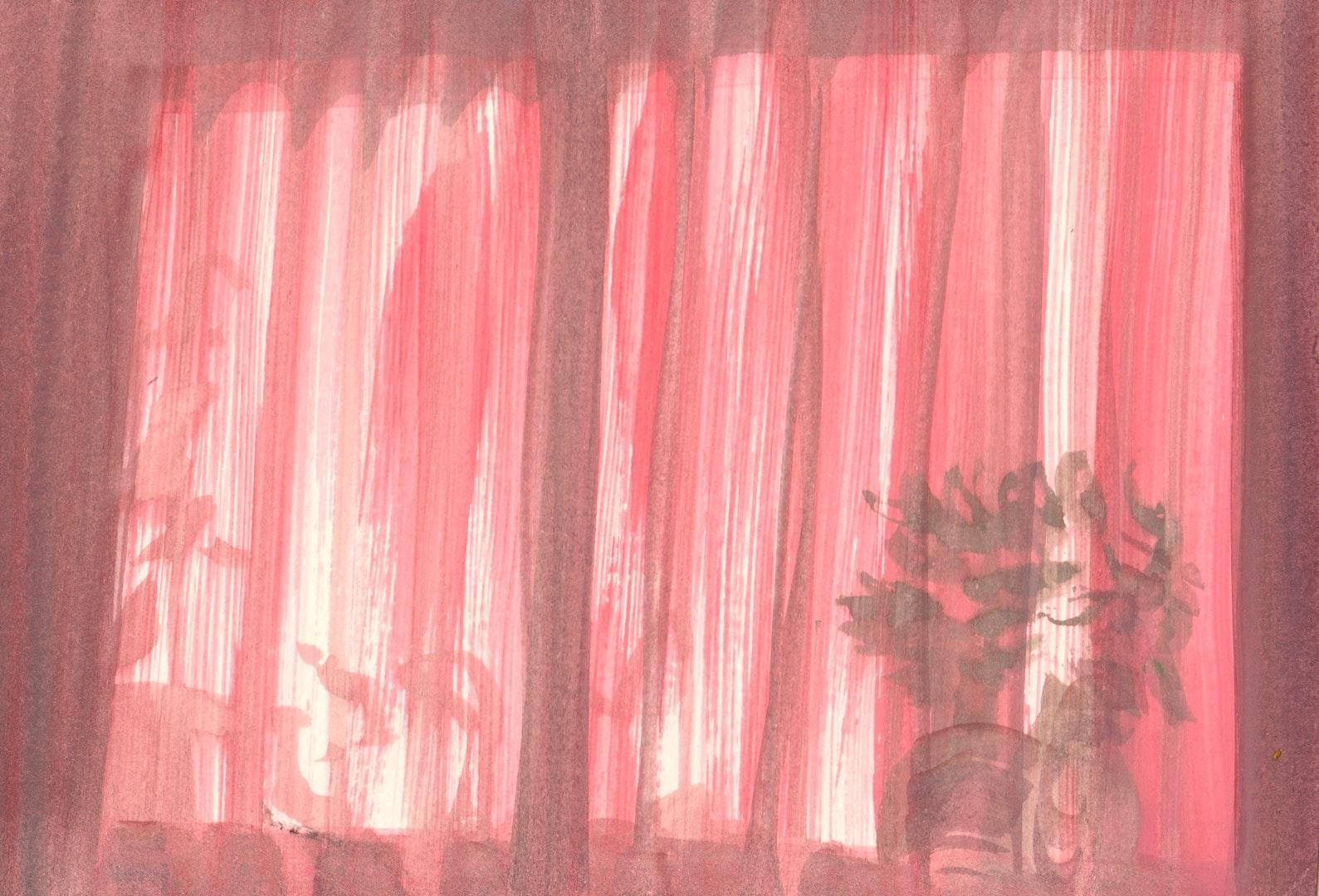 'Xinzi Song, Qinhangdao, China', Catherine Knight, Gouache on watercolour paper, 14 x 21 cm