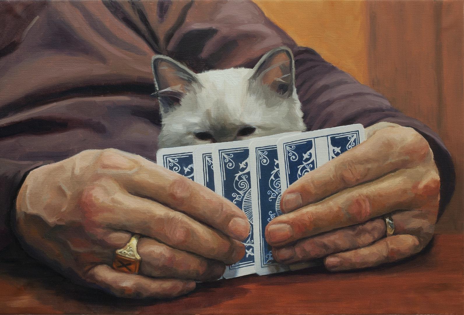'The Gambler', Chantal AuCoin, Oil on linen, 61 x 91 cm