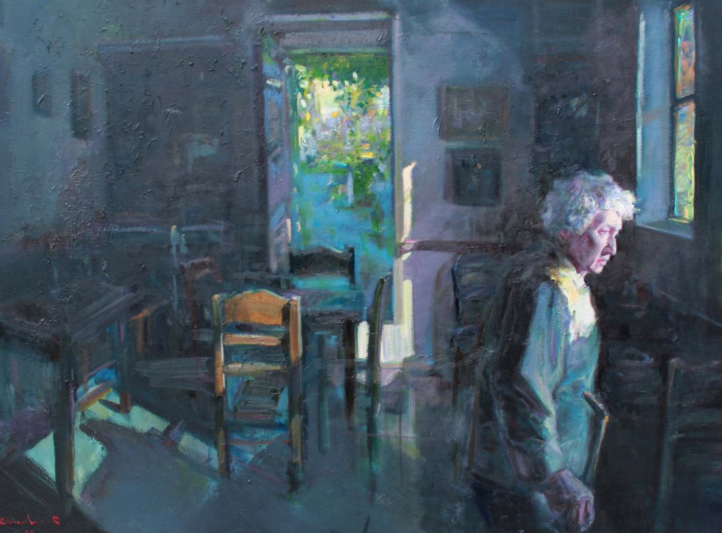 'Isolation 3', Charles Choi, Oil on canvas, 130 x 100 cm