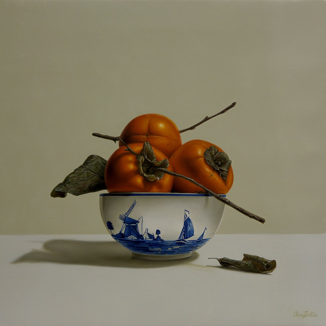 'Two furled sails', Chiara Bertolin, Oil on canvas, 50 x 50 cm